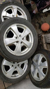 selling a set of summer tires with rims 205/55 r16