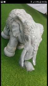 B&M Large Stone Elephant decorative garden ornament