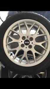Mini Winter Mags and Dunlop Tires 195/55R/16-  retail $1200 new