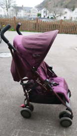Silver Cross stroller suitable from birth Pop Aubergine