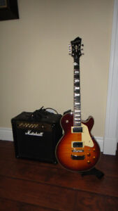 Like New-Hagstrom Super Swede Guitar and Marshall Amp