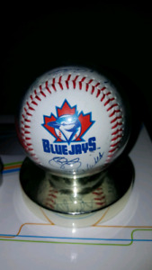 Autograph printed Blue Jay's Baseball in Plastic Mount