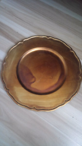 Bronze Coloured Decorative Charger/Plate