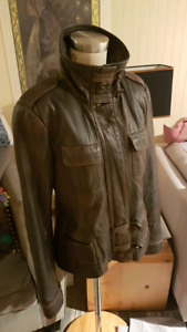 Danier Chocolate Brown leather jacket
