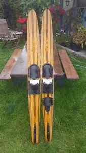 Vintage Concave Water Skis