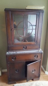 Dining room glass display cabinet