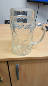 GERMAN BEER 2PINT GLASS X 2