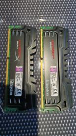 Kingston Hyperx beast ddr3 2400mhz ram 2x 8gb (16gb total)