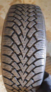 205/55/R16 Goodyear Nordic Winter tire set of 4 on steel rims