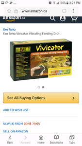 "vivicator by exo terra ""vibrating food dish"""
