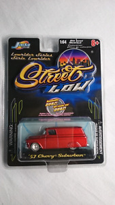 JADA TOYS STREET LOW 57 CHEVY SUBURBAN LOW RIDER SERIES MINT