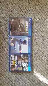 Ps4 games, COD, madden 25. MLB the show 14