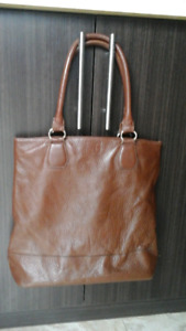 Grand sac en cuir veritable brun Rudsak