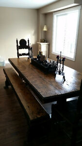 One of kind country harvest table