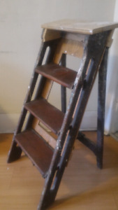 Vintage antique wooden ladder