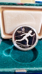 1988 Calgary Olympics 1 oz. Silver Coin - Cross Country Skiing
