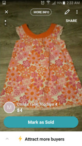 CHILD'S TANK TOP SIZE 4