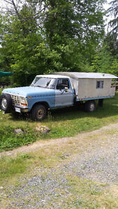 1979 Ford F-150 Pickup Truck and Camper