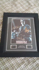 Small Terminator 2 picture Autograph/Film. 4 sale or trades.