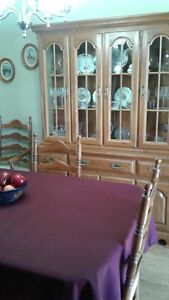Buffet & Hutch plus table and Six Chairs