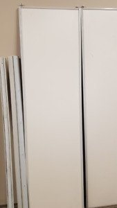 Sliding closet door panels