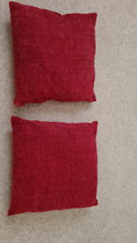 Two red pillows