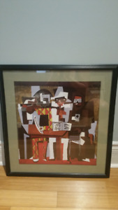 Picasso's Three Musicians framed print