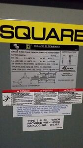 Square D 45kva Transformer 480 volt to 208Y/ 120 Stratford Kitchener Area image 3