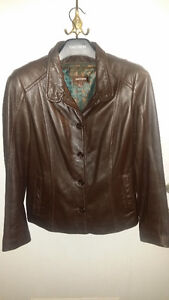 New Brown Leather - 3 Season Tailored Jacket w/Removeable Liner