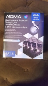 kaleidoscope projector christmas string lights. New and in box