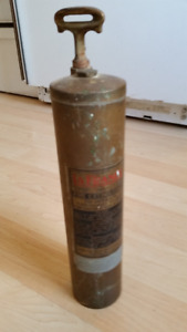 LaFrance FIRE EXTINGUISHER - Antique BRASS.
