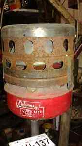 old coleman heater in excellent condition,& tons more antiques
