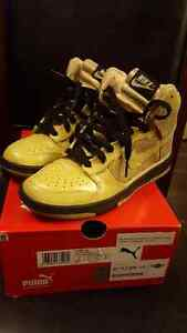 NIKE SB DUNK GOLD SEQUIN GLITTER SNEAKERS HIGH TOPS