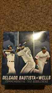 Bnib Blue Jays trio bobble head Wells Bautista Delgado