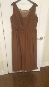 Plus Size (20) Chocolate Brown Alfred Angelo bridesmaid/prom