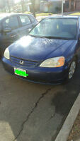 Very Clean 2002 Honda Civic Coupe (2 door) in perfect condition