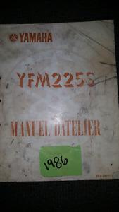 SHOP MANUEL YAMAHA YFM 225 S
