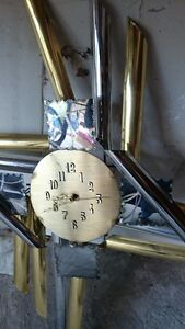 gold and silver clock