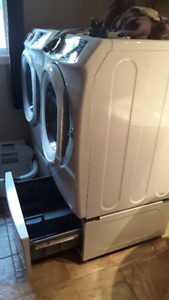 Base socle tiroir laveuse sécheuse Samsung
