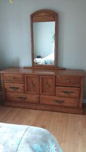 Ensemble de chambre en chêne - 5 pièces/5 pieces oak bedroom set