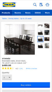 Dining table Extendable Brown-Black
