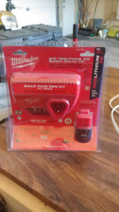 Milwaukee M12 battery and charger kit
