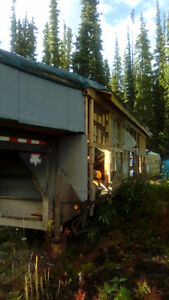 26' 2006 goose neck trailer with partially built home made campe