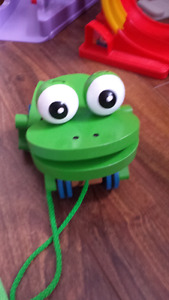 Melissa and Doug frog and baby items