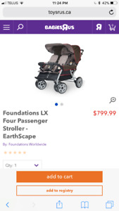 Foundation quad lx stroller assembled and used for about 1 hour