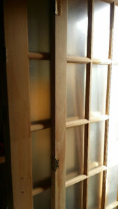 French Doors 2with Lights / Hardware Pine NEW