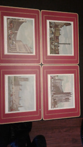 Vintage placemats London and hunting scenes