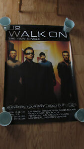 """U2 Elevation Tour (Canada 2001) """"Walk On"""" Single -poster-only $4"""