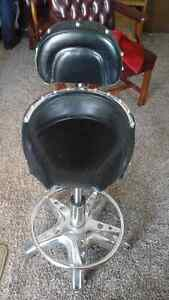3 Fun and fabulous motorcycle seat chairs / stools