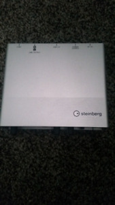 Steinberg UR12 USB audio interface.